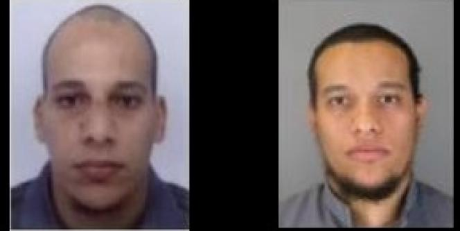 Les photos des deux suspects publiées dans l'appel à témoins de la police.