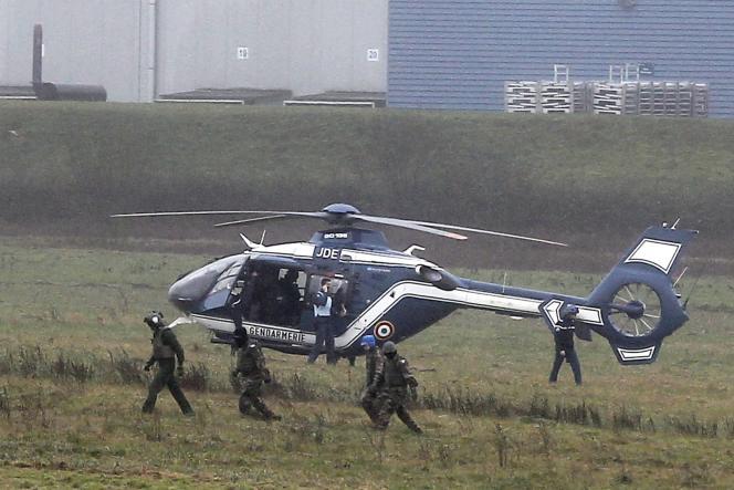 L'assaut contre les preneurs d'otages à Dammartin-en Goële, le 9 janvier.