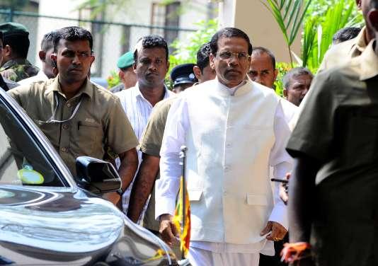 Maithripala Sirisena, le président du Sri Lanka, après son élection en janvier 2015, àColombo, la capitale commerciale.