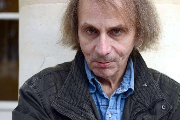 Michel Houellebecq, le 5 novembre 2014, au Pavillon Carré de Baudouin, à Paris, pour la promotion de son roman « Soumission».