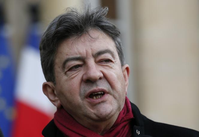 Jean-Luc Mélenchon, le 9 janvier à Paris.