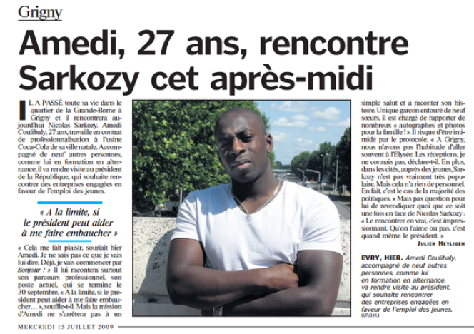 Amedy Coulibaly à vingt-sept ans.