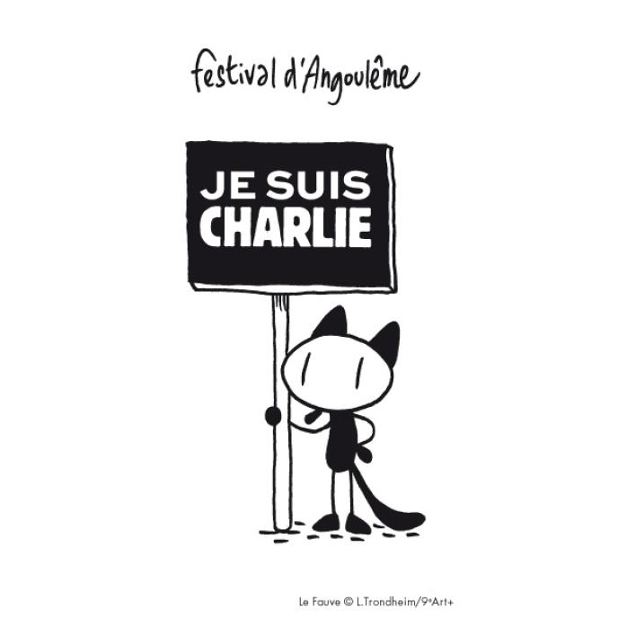 La mascotte du Festival international de la bande dessinée d'Angoulême, redessinée par Lewis Trondheim.