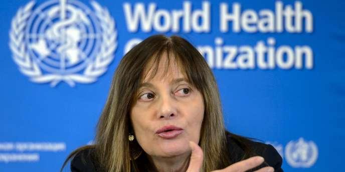 La docteur Marie Paule Kieny, Directeur général adjoint de l'OMS, à Genève, le 9 janvier 2015.