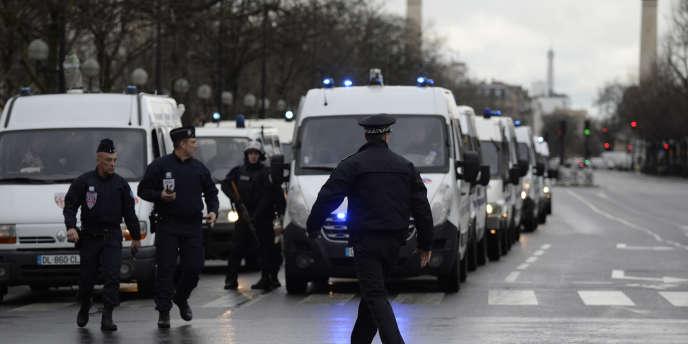 Porte de Vincennes à Paris, le 9 janvier.