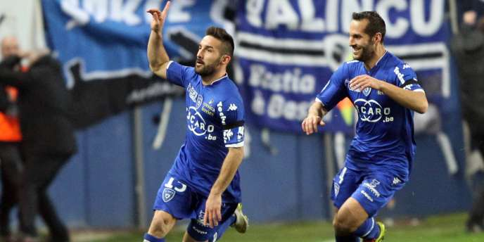 Le défenseur bastiais Julian Palmieri, auteur d'un doublé contre Paris, samedi 10 janvier.