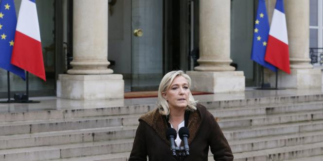 Marine Le Pen le 9 janvier.