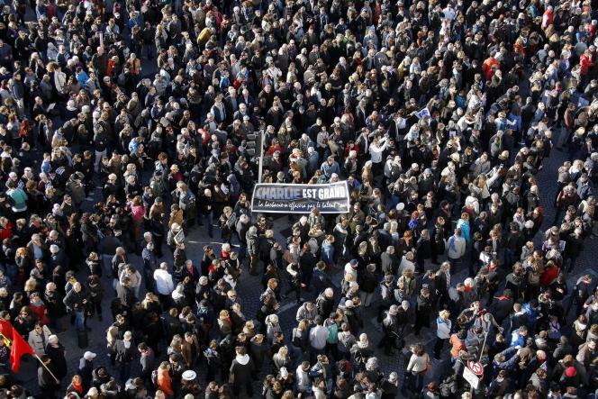 Marche républicaine à Marseille, samedi après-midi.