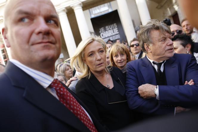 Marine Le Pen lors de la marche à Beaucaire, le 11 janvier.