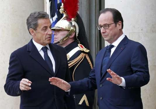 Comme deux de ses prédécesseurs, l'ancien chef de l'Etat a été invité par François Hollande à assister au 97e anniversaire de l'armistice de la première guerre mondiale.