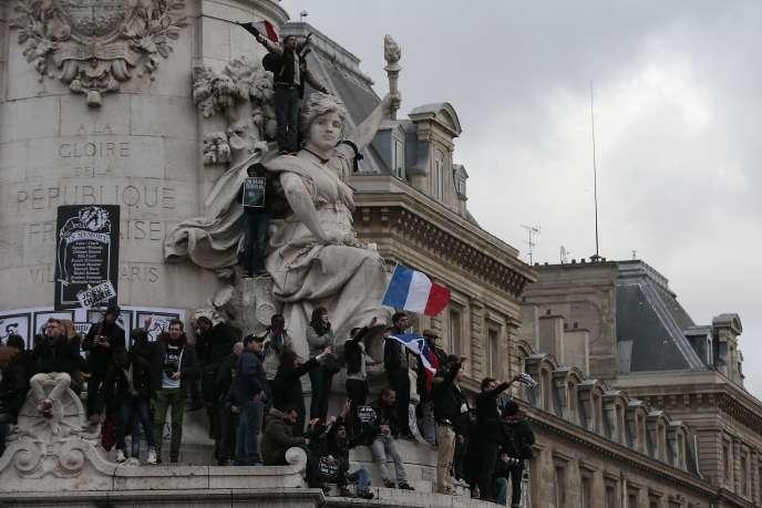 Paris, Place de la République, le 11 janvier 2015