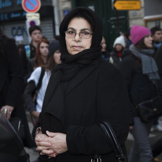 MARCHE CHARLIE 11/01/2015 Zahia Tassa, 60 ans