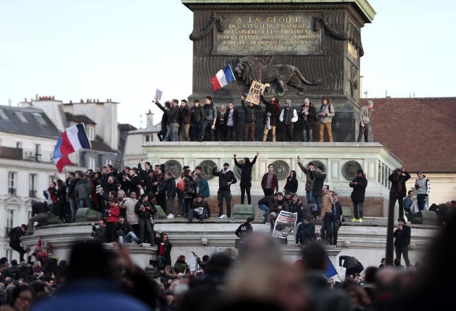 Place de la Bastille, le 11 janvier.
