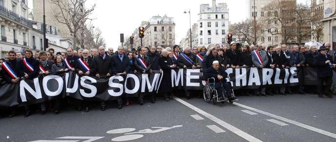 Les représentants et élus des différentes formations politiques, le 11 janvier, à Paris.