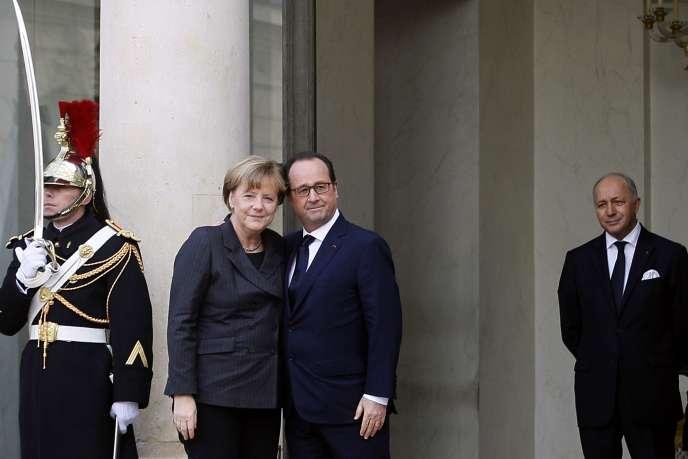 François Hollande et Angela Merkel à L'Elysée avant la Marche républicaine du 11 janvier.
