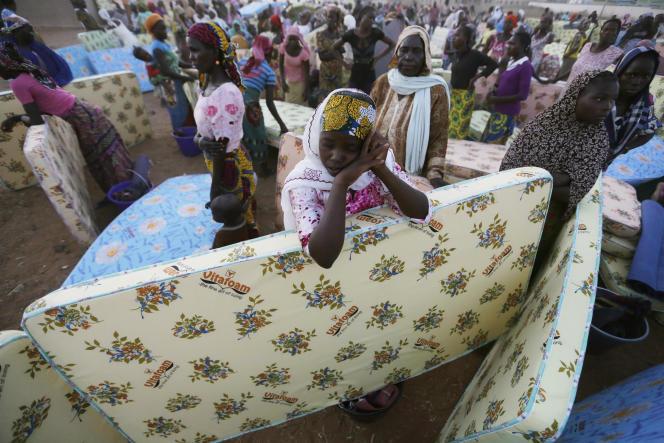 Dans le camp de réfugiés de Yola, dans le nord du Nigeria, fin novembre 2014.