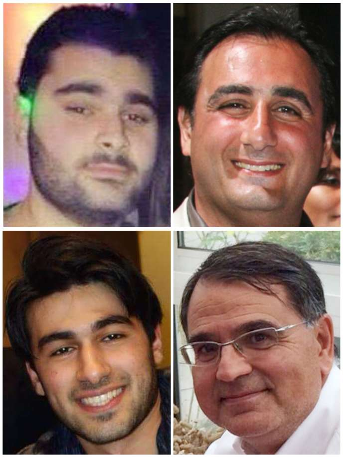Yohan Cohen, Philippe Braham, Yoav Hattab et François-Michel Saada, tués le 9 janvier dans le supermarché Hyper Cacher porte de Vincennes, à Paris.