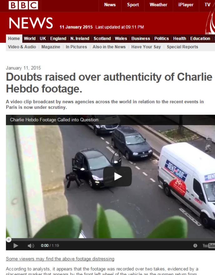 Capture d'écran du faux site de la BBC.