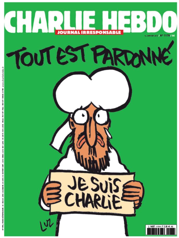 La «une» de «Charlie Hebdo» du mercredi 14 janvier.