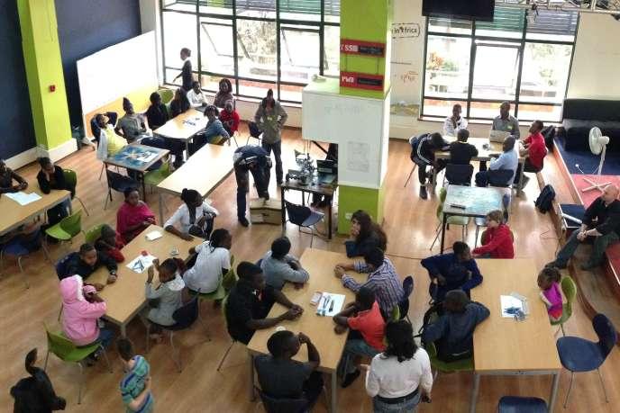 Un espace de coworking, iHub, dédié à l'innovation, à Nairobi.