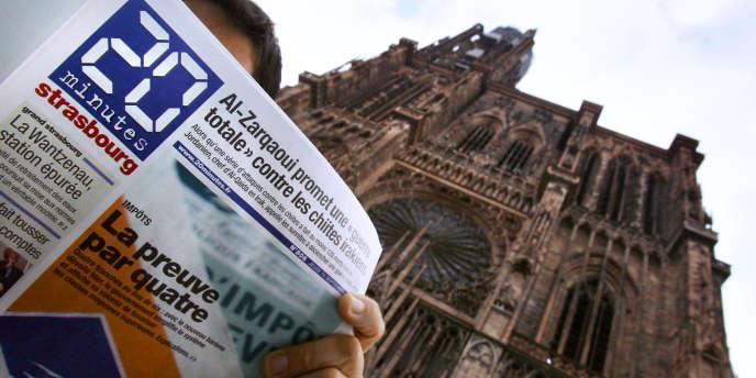 Une édition du journal «20 Minutes», à Strasbourg, en 2005.
