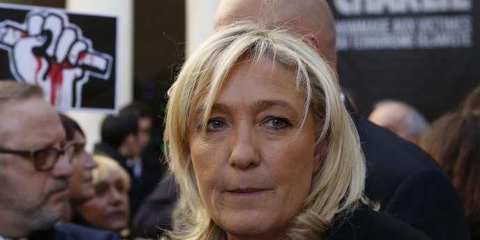 La présidente du Front national dimanche à Beaucaire.