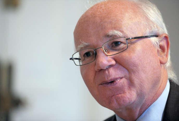 Bruno Lasserre, président de l'Autorité de la concurrence, dans son bureau en janvier 2013.