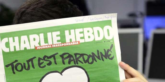 La «une» du «Charlie Hebdo» du 14 janvier.