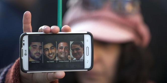 Yohav Hattab, Yohan Cohen, Philippe Braham et Francois-Michel Saada vont être inhumés, mardi 13 janvier, à Jérusalem.