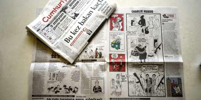 Le journal turc «Cumhuriyet» a publié les caricatures de «Charlie Hebdo».