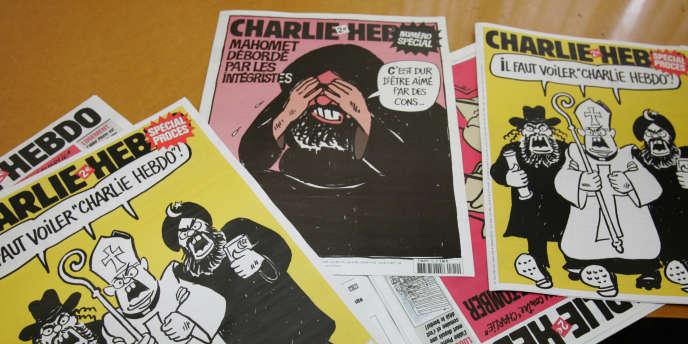 Des couvertures du journal satirique