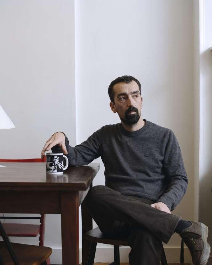 Fabien Nury, le 12 janvier chez lui, dans le quartier parisien de Belleville.