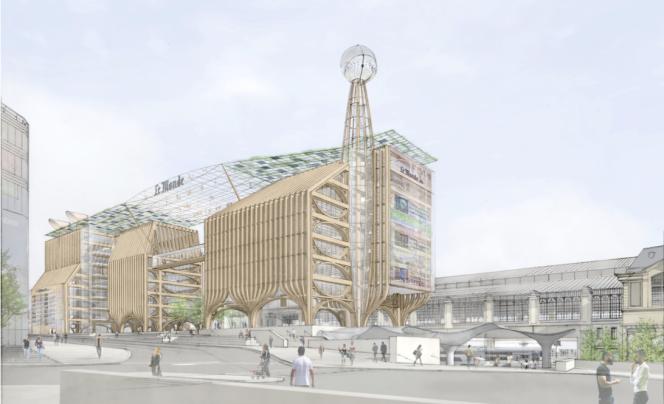 Le projet de l'architecte japonais Shigeru Ban, qui a également conçu le Centre Georges Pompidou à Metz.