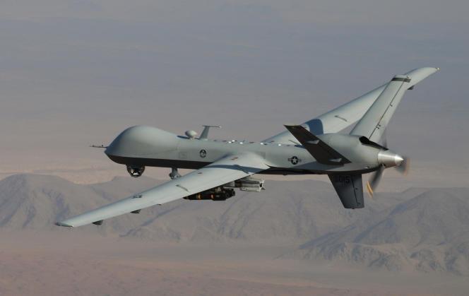 Un drone de surveillance et de combat  MQ-9  Reaper des forces armées américaines.