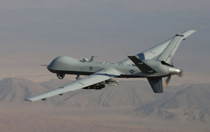 Un drone américain MQ-9 Reaper en Afghanistan.
