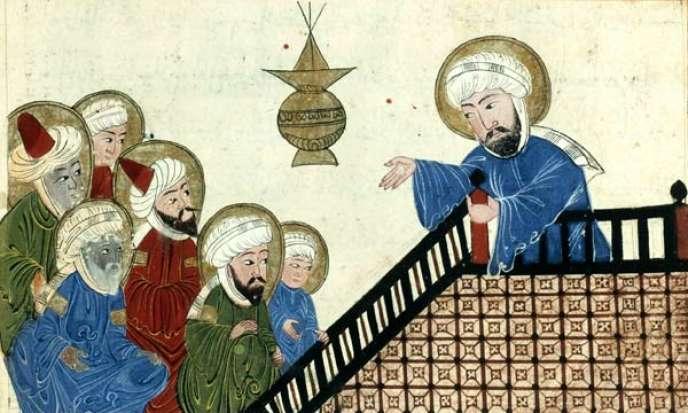 Le prophète Mahomet, illustration d'un manuscrit ottoman du XVIIesiècle.