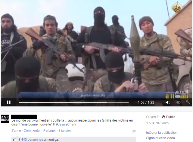 Capture d'écran de la vidéo revendiquée par Daesh appelant à commettre des attentats en France.