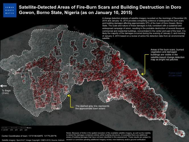 Le nombre exact de victimes à Baga et dans les 16 villages alentours est inconnu, avec des estimations allant de dizaines de victimes à 2000 morts ou plus », indique HRW.