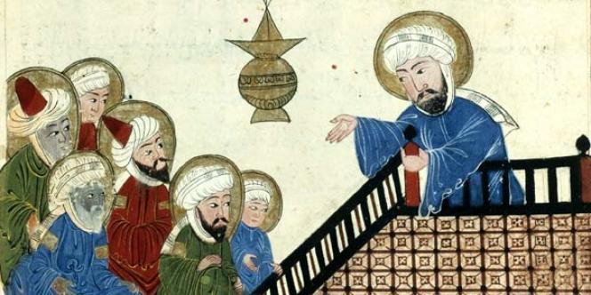 Le prophète Mahomet, illustration d'un manuscrit ottoman du XVIIe siècle.