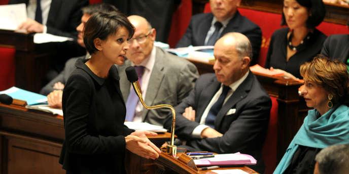 Najat Vallaud-Belkacem à l'Assemblée, le 14 janvier.