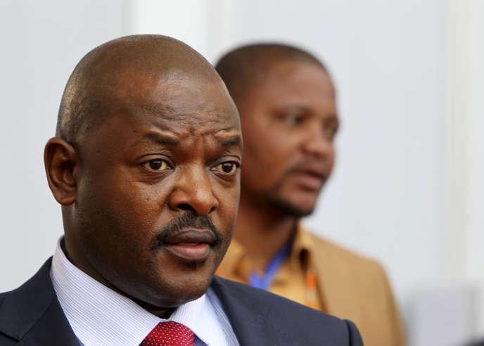 Le président burundais Pierre Nkurunziza à Kinshasa, lors du 14e sommet de la francophonie.