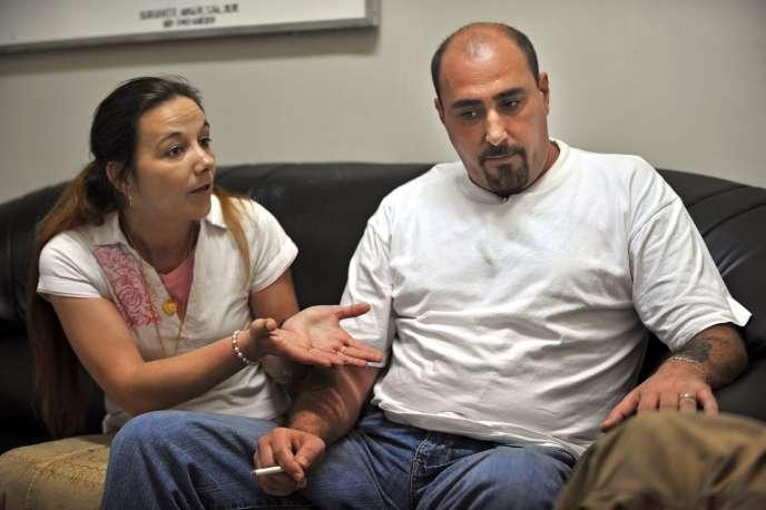 Serge Atlaoui et sa femme, en 2008.