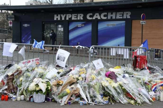 Le supermarché Hyper Cacher de la porte de Vincennes, cible d'Amedy Coulibaly, le 16 janvier 2015.
