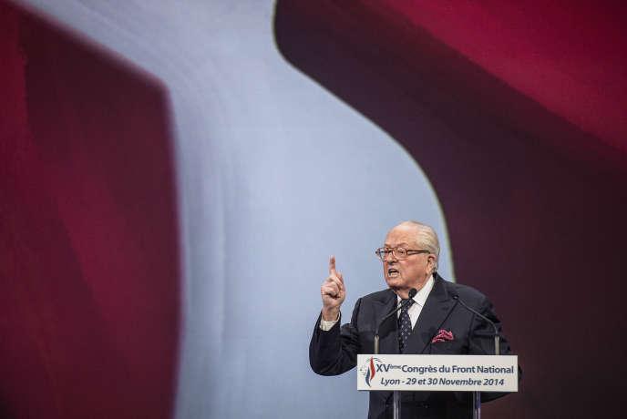 Jean-Marie Le Pen à Lyon, le 29 novembre.