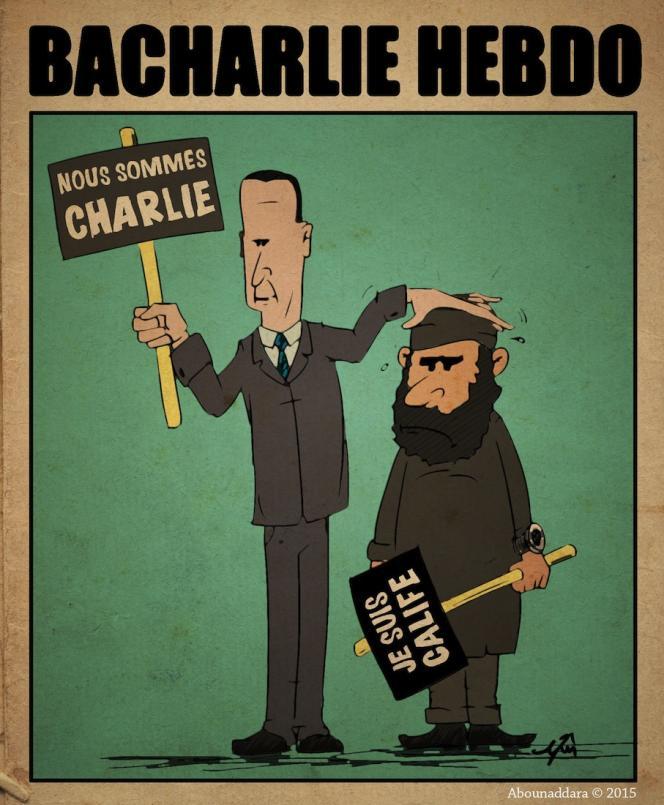 Un dessin posté dimanche 11 janvier par le collectif de résistants syrien.