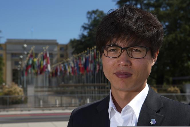 Shin Dong-hyuk, le 5 juin 2013 à Genève.