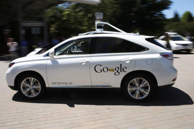 Une voiture autonome développée par Google, le 13 mai 2014 à Mountain View.