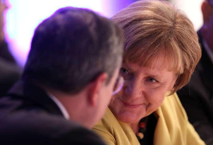 Angela Merkel et Mario Draghi le 19 janvier en Allemagne.