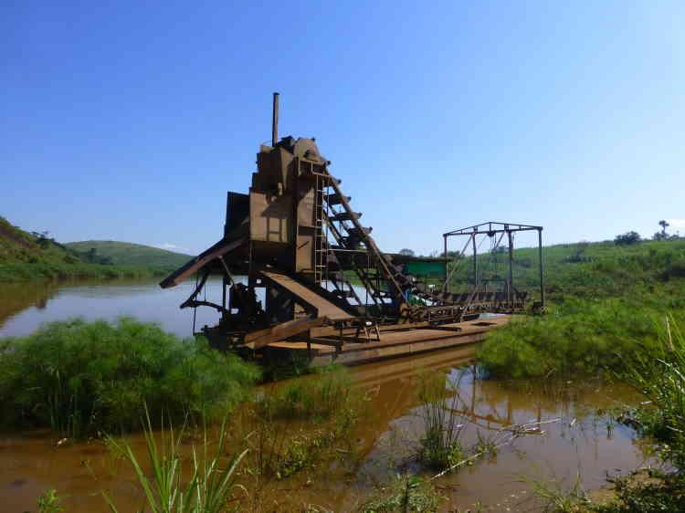 Une installation exploitée par une compagnie minière chinoise.