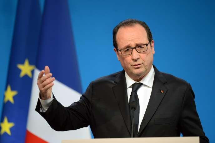François Hollande à Tulle, le 17 janvier.